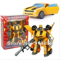 Free shipping transforming super humblebee robots Transformable Autobots kid's chidren vehicle car toys christmas gift dce3