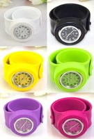 Наручные часы Fashion Slap On Snap Unisex Silicone Rubber Sports Wrist Watch 10 Colors A1360