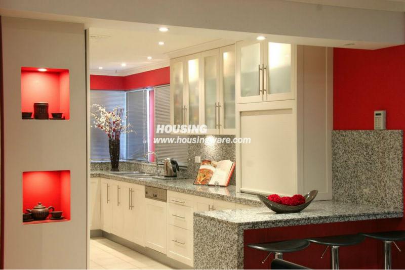 Cocina totalmente personalizada tradicional pintado, muebles de cocina de mad...