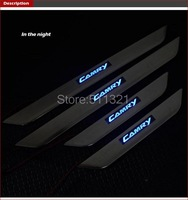 Бампер LED Stainless Door Sill Scuff Plate For Toyota Camry 2007- 2012