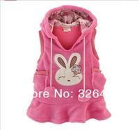 Жилет для девочек Girls clothing child autumn 100% cotton with a hood vest tank dress baby casual clothes outerwear
