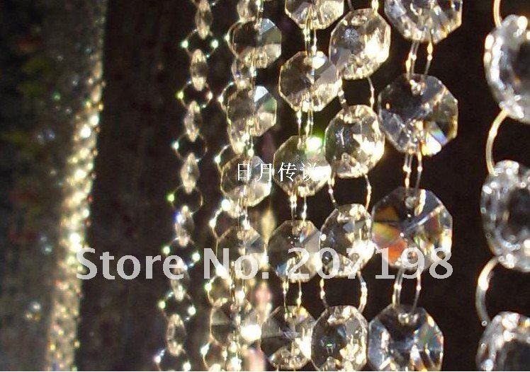 14MM Crystal Prism Bead Chain for wedding garland, crystal strands/hung strung for wedding tree, christmas tree ornament 40M/lot