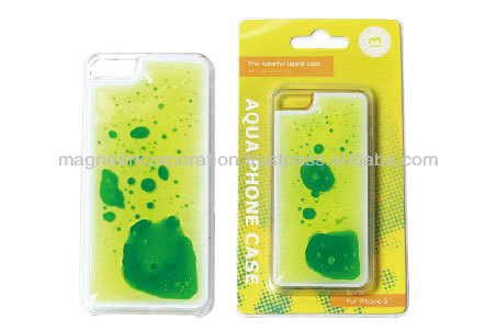 Happy Plastic Liquid Oil Mobile Phone Case for iPhone 5, 5s, 5c (Beer / Liquid Blue / Liquid Yellow)