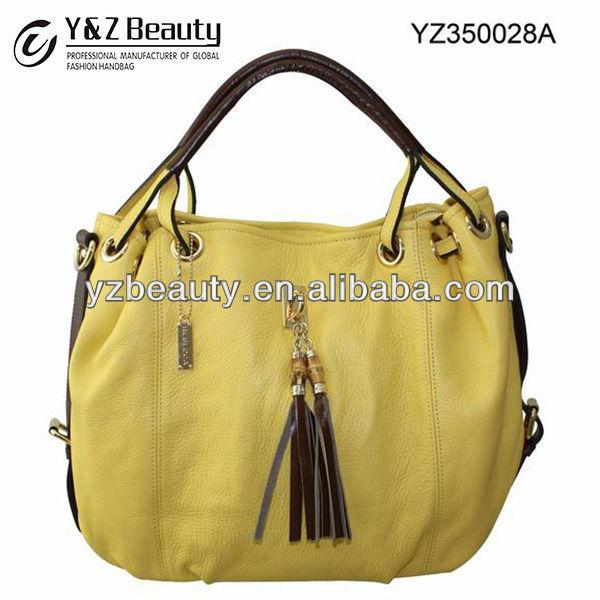 Lambskin Vintage Leather Bag Lady Fringe Shoulder Handbag Purse Women