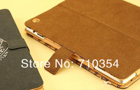 Free Shipping Luxury JC leather Case Smart Cover protective shell skin for Apple iPad2 iPad3 with retail package
