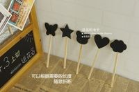 Классная доска Gardening Flower Vintage Wooden Small Chalkboard Writing Board Coffee Shop Message Board 10pcs/lot