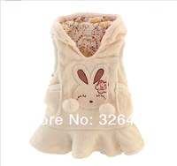 Жилет для девочек Girls clothing child autumn 100% cotton with a hood vest tank dress baby casual clothes outerwear
