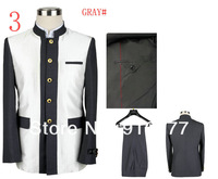 Мужской костюм Ultra-Low Price A+ + High Quality Male Chinese Tunic Suit 2 Pieces Size S M L XL XXL XXXL