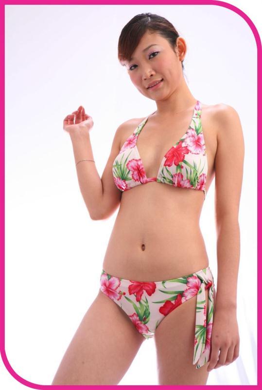Clear plastic bikini