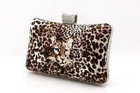 Вечерняя сумка PU Woman Bag, LEOPARD Evening Bags Clutch Handbag, Ladies' Evening purse, Gift wristlet 2013 With Shoulder Chain