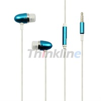 Metal in-ear earphone headphone with Remote & Mic for iPhone 4 4S,for iPod series,for iTouch, 9 Colors - 50 pcs, FS by Fedex