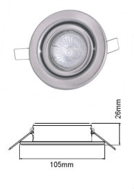 led lights frame with stainless steel spring clips