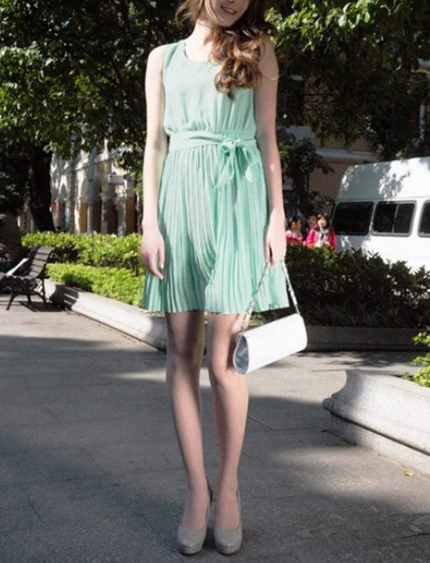 mulheres vestido plissado (7)