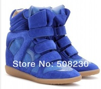 Женские кеды 2012 the newest isabel marant sneaker with brand on the sole, blue sneaker