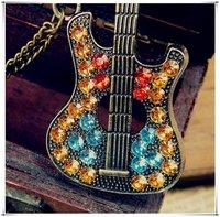 Колье-цепь Chromatic Imitation Diamond Guitar Sweater Chain Necklace N41