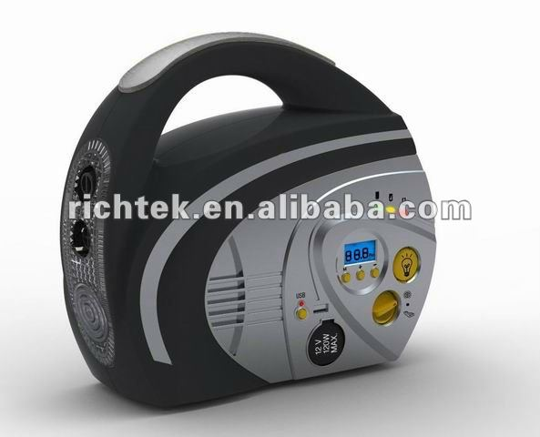 Wholesaler car tire air compress/Rechargeable Battery operated car tire air compre/Portable car tire air compressor(RCP-B210)