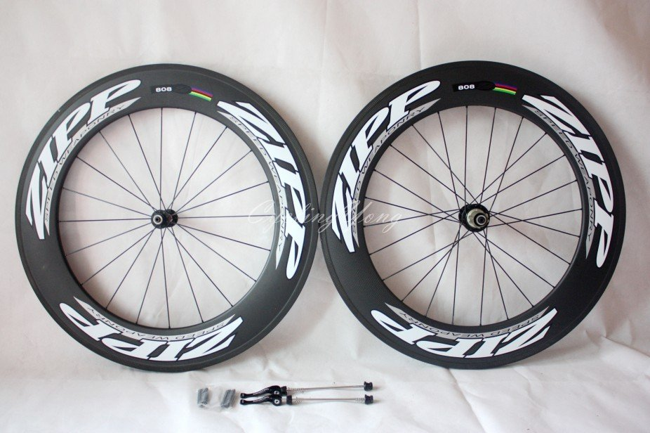 ZIPP 808 carbon Wheelset T-90 tubular wheels 90mm--wholesale,free shipping,super light!