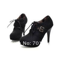 Туфли на высоком каблуке Waterproof Buckle Strap Shoes For Women