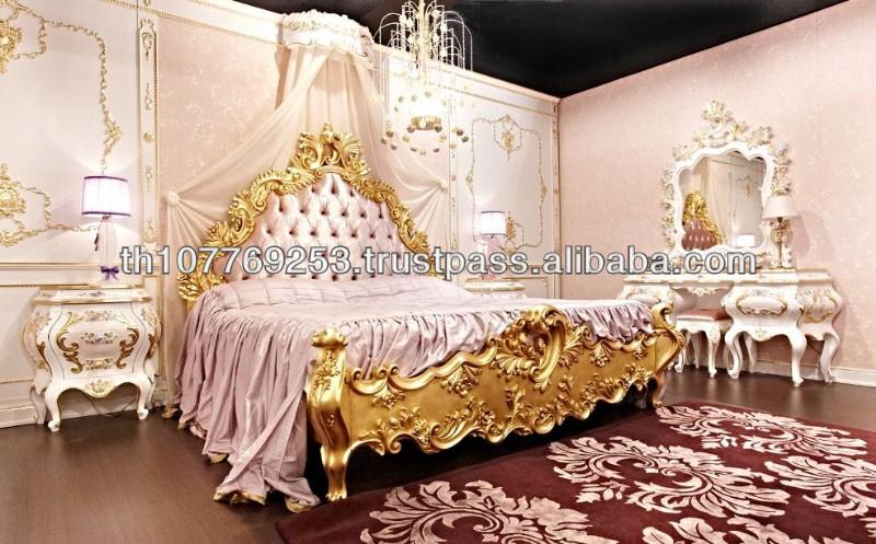 luxury pink gold classic bedroom 1