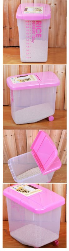 40LBS plastic pet food Container with wheels