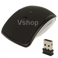 High Quality Durable Black Wireless 2.4GHz 800 1200 1600dpi Folding Optical Mouse