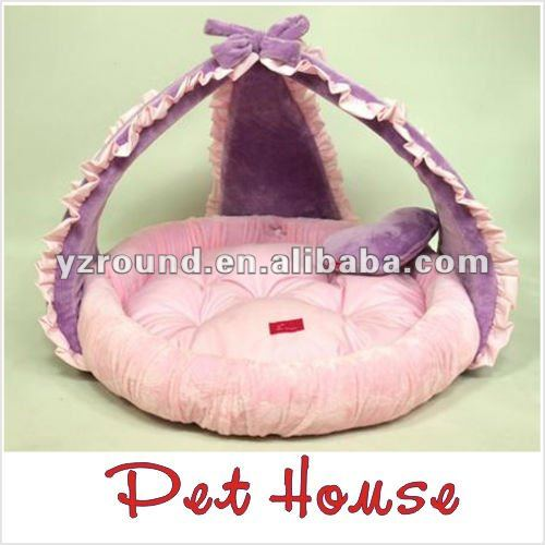 Lovely purple plush dog house