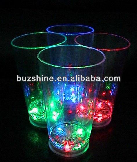 Best seller led flashing cup,led flashing barware,led glass