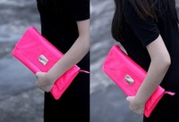 Клатч Women's Casual Fluorescence Colour PU Day Clutch Ladies' Patent Leather Purse Party Handbags