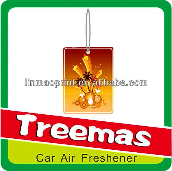 Paper air freshener/palm tree logo/air freshener for tree logo Y128