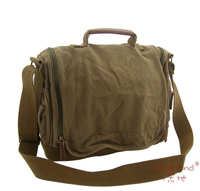 1212 green leisure tote bag, canvas messenger bag