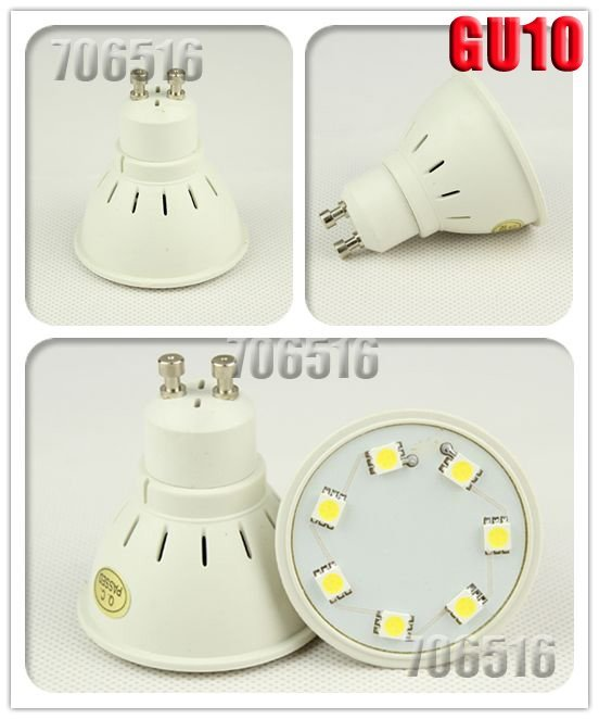 LED Bulbs GU10 5050SMD 7PCS 220V 230V 240V Warm White/Cool White 2W 126lm Free Shipping