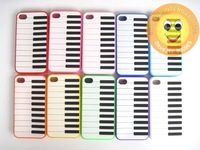 Чехол для для мобильных телефонов Hot sell! Piano Rubber Silicone Case Skin Soft Gel Cover for Apple iPhone 4 4S 4G, 20pcs