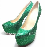 Туфли на высоком каблуке 16CM and 14CM heel, Hottest salling! six colors supply! wedding shoes, crystal shoes for wedding ceremony @1