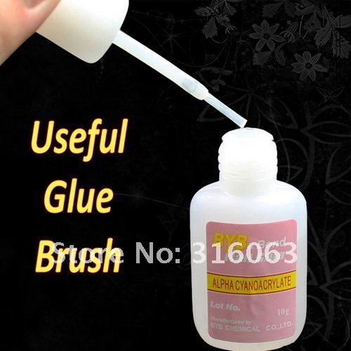 FREE SHIPPING 10g 36Pcs/Set Pink Nail Glue with Brush for False Tips Nail Adhesive Acrylic Nail Art Decoration NA104
