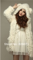 Женские толстовки и Кофты Sale Women Cute Teddy Bear Princess Plush Coat Jacket 79221_GIFT