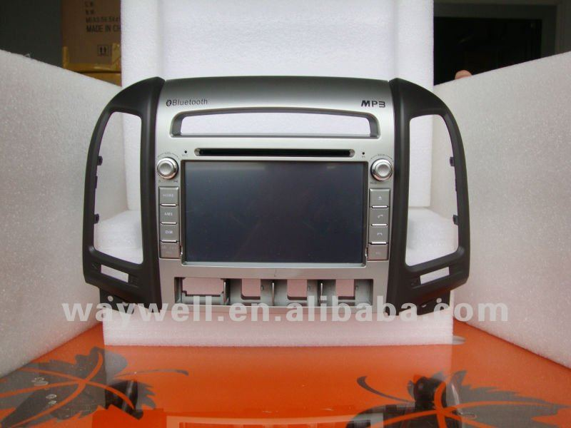 Hyundai Santa Fe 2012 car audio player with latest map