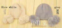 Женская шапка Ball ball wool hat