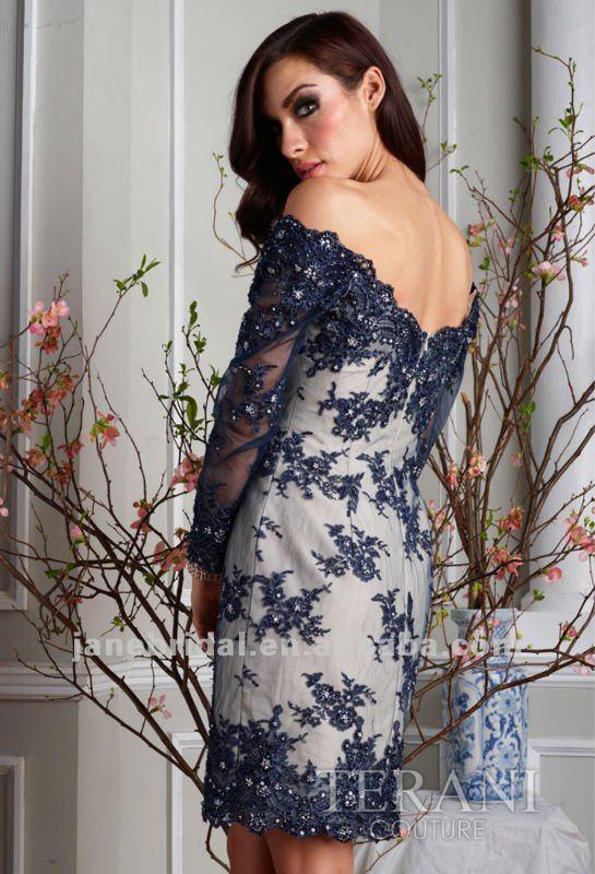 Blue Prom Dresses One Shoulder