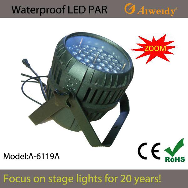 Aiweidy Main product practical 54*3w led par zoom light waterproof led par light for sale