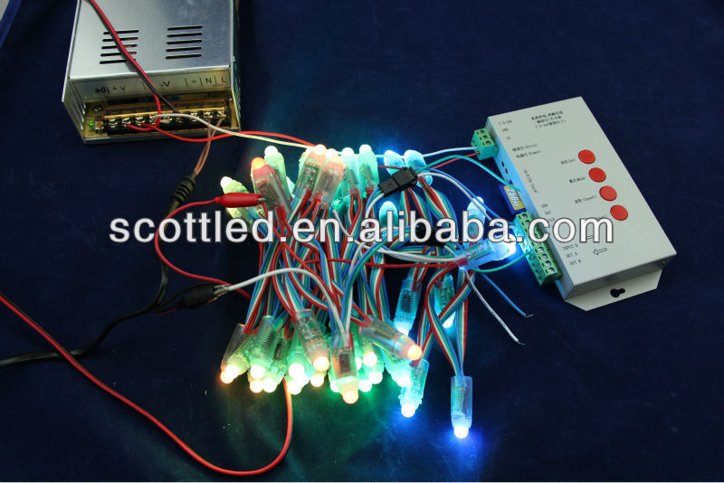DVI/DMX control full color rgb led pixel lights string for DJ table decoration