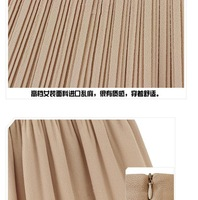 Женская юбка Retro Women Pleated Chiffon High Waist Lady Mini Skirt Short Double Layer