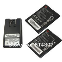 2 x hb4w1 аккумулятор + зарядное устройство док для huawei t8951 g510 g520 c8813 c8813d 1700mah