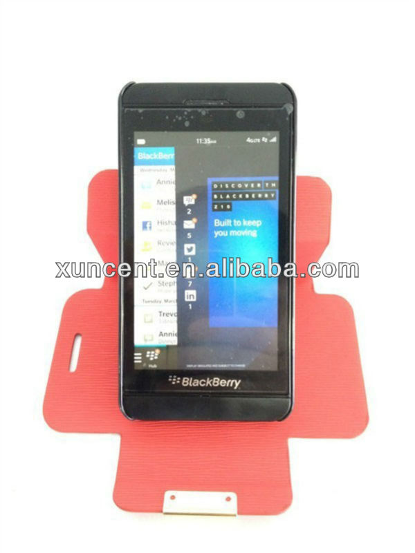 2013 hot selling 360 degree rotation with standing case for blackberry z10