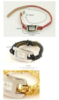 JW008 Hand-knitted Leather Cord Watchband, Women Watch, Quartz Watch, Braided Watch 13 colors Free shiping
