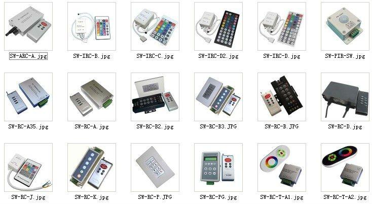 Mini RGB controller & Dimmer for led strip 3 keys 12V 6A