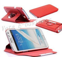 Чехол для для мобильных телефонов For Samsung galaxy note 2 leather case cover, 360 rotate case for note ii, cover for galaxy n7100