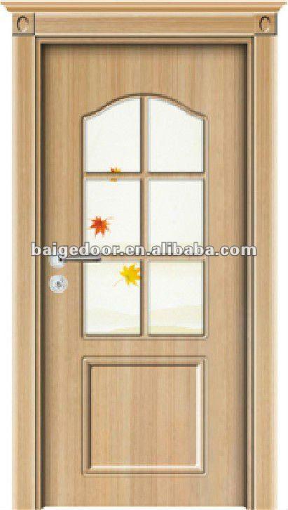 Bg tp9009 moderno de madera de la puerta con vidrio puerta for Puertas de madera para cocina con vidrio