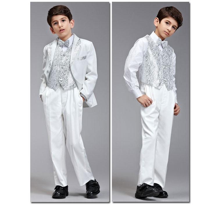 Скидки на 2014 Новый Высокого качества Господа 8 шт. детская одежда набор детей костюмы пиджаки мода мальчики свадебная одежда вечернее платье детский набор