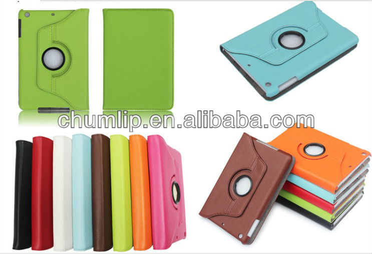 Orange Smart Cover Leather Case For ipad mini