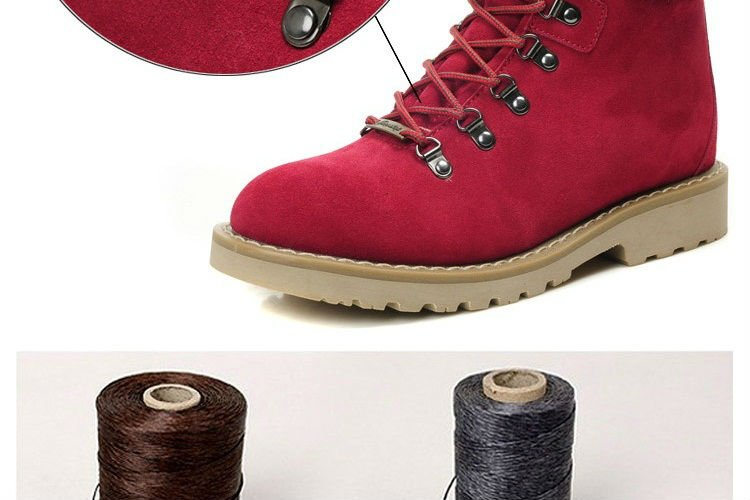 Men leather boots outdoor boots ankle boots winter boots genuine cow leather Rubber Sole Wearproof wool inside Red Black 35-44